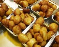 Traditional Greek pancake balls lukuma Stock Photos