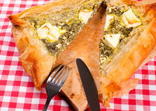 Greek pie Royalty Free Stock Image