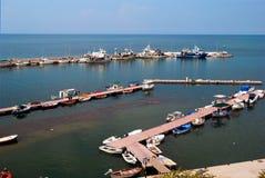 Traditional Greek porto located at Chalkidiki penisnula Royalty Free Stock Photo