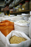 Traditional greek pulses in a shop Royalty Free Stock Photo