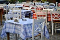 Traditional greek restaurant Stock Photos