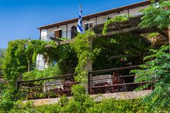 Traditional greek restaurant. Royalty Free Stock Image