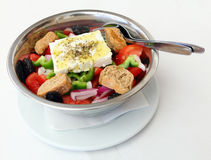 Traditional Greek salad Stock Images
