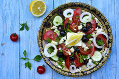 Traditional greek salad. Royalty Free Stock Image