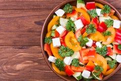 Traditional greek salad royalty free stock photos