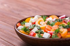 Traditional greek salad royalty free stock image