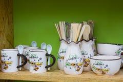 Traditional Greek souvenir shop at Chania Royalty Free Stock Photos