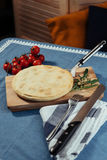 Traditional Greek spinach pie with puff pastry Stock Photography