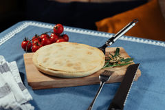 Traditional Greek spinach pie with puff pastry Royalty Free Stock Photo