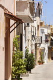 Traditional greek street in Rethymno. Crete. Greece Stock Images