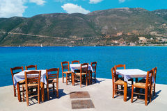 Traditional Greek Tavern At The Beach Royalty Free Stock Photo