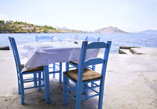 Traditional greek tavern Royalty Free Stock Image