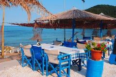 Traditional Greek tavern. Island Tassos Stock Photography