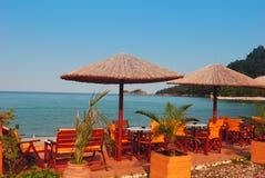 Traditional Greek tavern. Island Tassos Stock Image