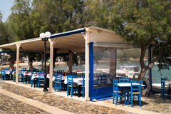 Traditional Greek tavern on Milos island Stock Photography