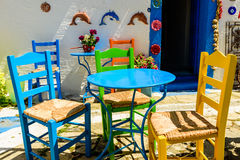 Traditional Greek tavern royalty free stock images