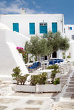 Traditional greek tavern on Sifnos island Stock Images