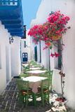 Traditional greek tavern on Sifnos island Royalty Free Stock Photo