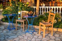 Traditional greek taverna Royalty Free Stock Photography