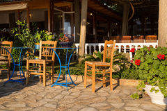 Traditional greek taverna Stock Photo