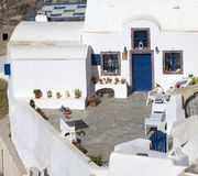 Traditional greek terrace Royalty Free Stock Photography