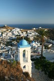 Traditional Greek Town On Hill Royalty Free Stock Photos