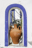 Traditional Greek vase on Amorgos island, Greece Stock Photo