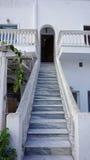 Traditional greek village exo gonia on santorini Stock Photos
