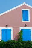 Traditional Greek village house Stock Photo