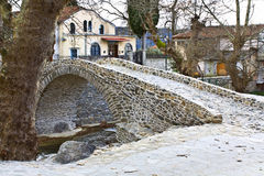 Traditional Greek village of Moustheni near Kavala Royalty Free Stock Photography