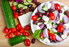 Traditional Greek village salad Stock Photo