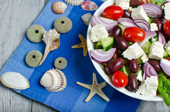 Traditional Greek village salad Royalty Free Stock Photo