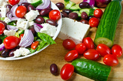 Traditional Greek village salad Royalty Free Stock Photos