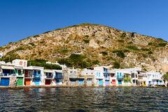 Traditional Greek village by the sea, the Cycladic-style Stock Photography