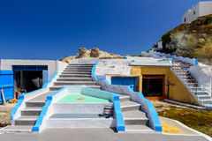 Traditional Greek village by the sea Stock Image