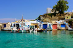 Traditional Greek village by the sea Royalty Free Stock Photography