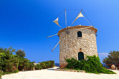 Traditional Greek windmill Stock Photos