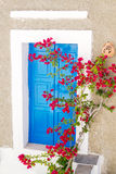 Traditional greek window on Sifnos island Stock Photography