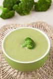 Traditional green broccoli cream recipe in a bowl Stock Photos