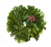 Traditional green christmas wreath royalty free stock photography