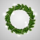 Traditional green christmas wreath Stock Photos