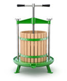 Traditional green fruit press Royalty Free Stock Photography