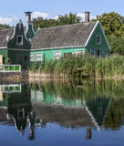 Traditional Green Houses, The Netherlands Royalty Free Stock Photos