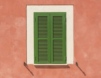 Traditional green shutters in the South Stock Photo