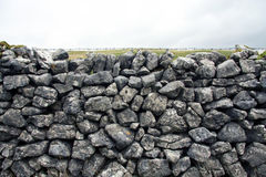 Traditional grey dry stone wall. Great background/texture Stock Image