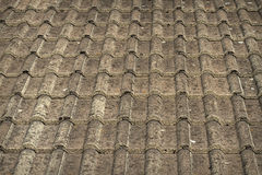 Traditional grey roof tiles Royalty Free Stock Photos
