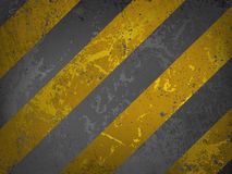 Traditional grungy hazard stripes warning. EPS 8 Stock Image