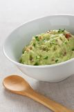 Traditional guacamole bowl Stock Photo