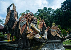Traditional guardian sculpture in Royal Water Palace of Karangasem Royalty Free Stock Image
