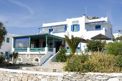 Traditional guest house in Koufonisia island Royalty Free Stock Image